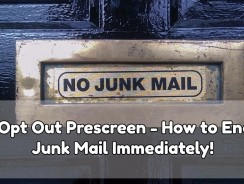Opt Out Prescreen – How to End Junk Mail Immediately